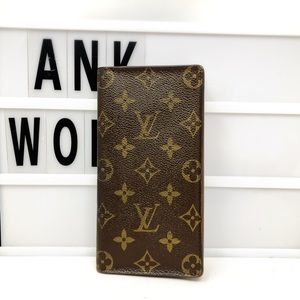 Louis Vuitton Monogram checkbook long wallet